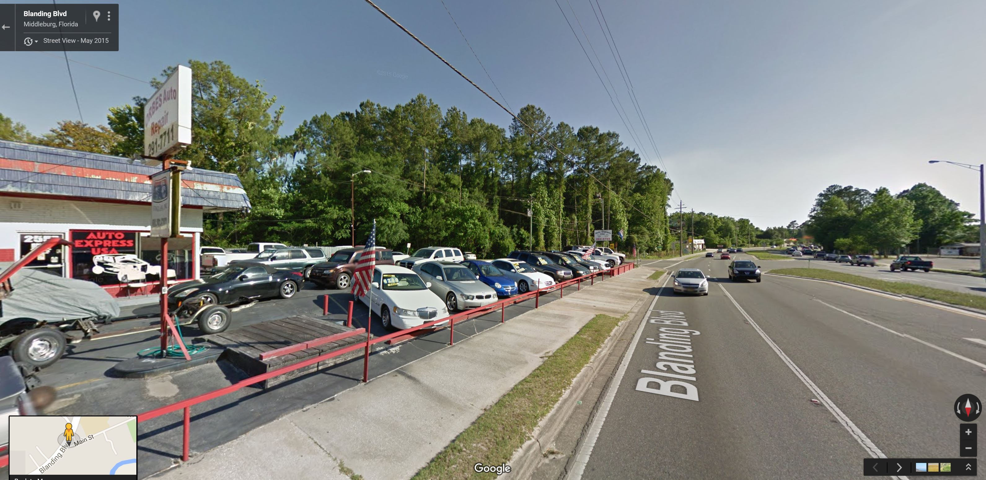 FDOT Road Widening: Auto Repair and Used Car Sales Lot (Clay County, FL)